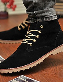 Men's Boots Comfort Leatherette Spring Summer Fall Winter Casual Comfort Lace-up Flat Heel Black Blue Yellow Green Under 1in