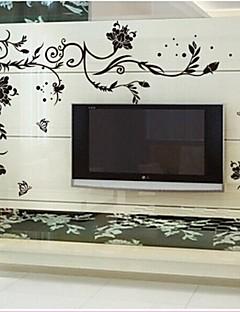 doudouwo® pared pegatinas etiquetas de la pared, flores las flores nobles y hermosas pvc pegatinas de pared