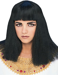 The Real Cleopatra Long Straight Black 45cm Women's Halloween Party Wig