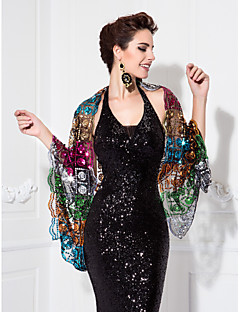 Circle Sequined Special Occasion Shawls
