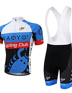 XAOYO® Cycling Jersey with Bib Shorts Men's Short Sleeve Bike Breathable / Quick Dry / Back Pocket Clothing Sets/SuitsPolyester / 100%