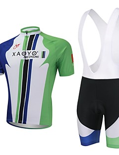XAOYO® Camisa com Bermuda Bretelle Homens Manga Curta Moto Respirável / Secagem Rápida / Bolso Traseiro Conjuntos de Roupas/Ternos