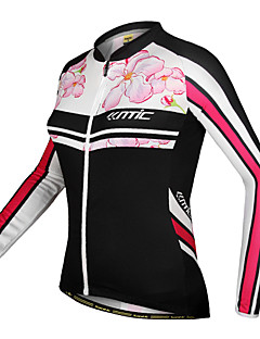 SANTIC-Women's Cycling Jersey / Jacket Long Sleeve 100% Polyester Floral Pattern