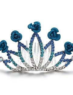 Vrouwen / Bloemenmeisje Licht Metaal / Kubieke Zirkonia Helm-Bruiloft / Speciale gelegenheden / Buiten Tiara's / Haarkammen Rond