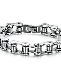 Pánské Řetězové & Ploché Náramky Jedinečný design Přizpůsobeno Punkový styl bižuterie Nerez Šperky Šperky Pro Svatební Párty Denní