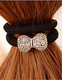 Rhinestone Bow Hair Ring