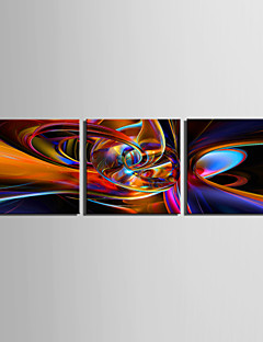 Stretched Canvas Print Art Abstract High Way Set of 3