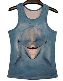 Men's Print Casual / Sport Tank Tops,Others Sleeveless-Multi-color