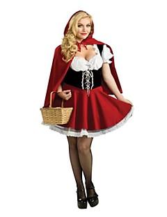 terylene vermelho traje clássico chapeuzinho vermelho halloween