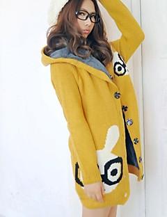moda coringa coelho da maternidade casaco quente