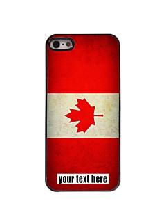personlig fallet kanadensisk flagga designen metallhölje för iphone 5 / 5s
