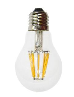 6W E26/E27 LED-glödlampor G60 6 COB 700 lm Varmvit Dekorativ AC 220-240 V