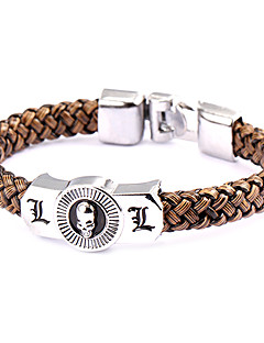 Jewelry Inspired by Death Note L.Lawliet Anime Cosplay Accessories Bracelet Brown / Silver Alloy / PU Leather Male