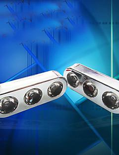 3-cores lâmpada de sinal de freio diy cauda virada luz âmbar luz motocicleta