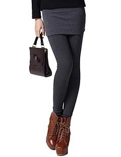 Women's False Two Piece Slim Warm Leggings With Skirt