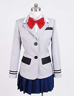 Inspired by Tokyo Ghoul Kirishima Touka Anime Cosplay Costumes Cosplay Suits Patchwork White / Red / Blue / GrayTop / Shirt / Skirt /