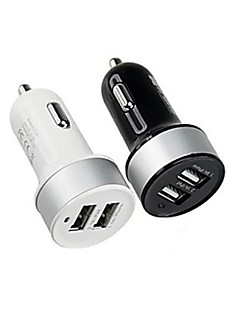 Dual-USB Car Charger Cigarette Lighter Power Adapter for Smartphones and Tabs 5V 3.1A
