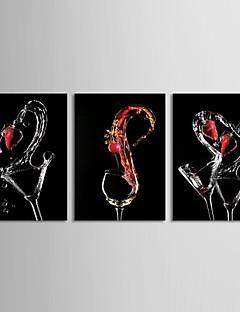 Stretched Canvas Art Still Life Three Wine Glasses Set of 3