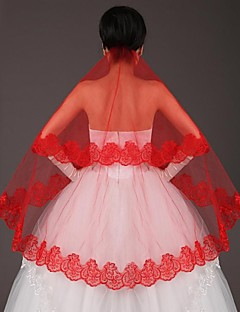 Red Bride Veil