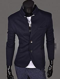 Chcete pánská dlouhý rukáv slim límec obleku sako