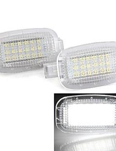 2st vit 18 ledde 3528 smd artighet dörrljus lampa lampa för mercedes benz W221