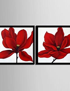 Blomstret/Botanisk Indrammet Lærred / Indrammet Sæt Wall Art,PVC Sort Ingen Måtte med Frame Wall Art