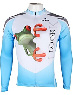 ILPALADINO Cycling Jersey Men's Long Sleeves Bike Jersey Tops Quick Dry Ultraviolet Resistant Breathable 100% Polyester Animal Spring