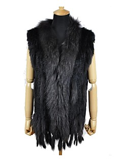 Women Rabbit Fur/Raccoon Fur Top , Without Lining