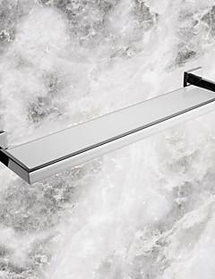 fürdőszoba polcok, kortárs tükör polírozott rozsdamentes anyagból üveg polc, fürdőszoba tartozék