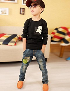 Katoenmix-Winter / Lente / Herfst-Boy's-Jeans-Effen
