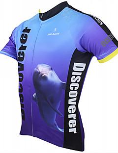 PALADIN® Cykeltrøje Herre Kort Ærme Åndbart / Hurtigtørrende / Ultraviolet Resistent Cykel Trøje / ToppePolyester / 100% Polyester /