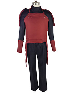 Inspired by Naruto Cosplay Anime Cosplay Costumes Cosplay Suits Color Block Red Long Sleeve Top / Pants