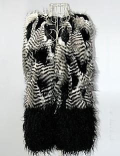 Women Faux Fur Outerwear , Belt Included