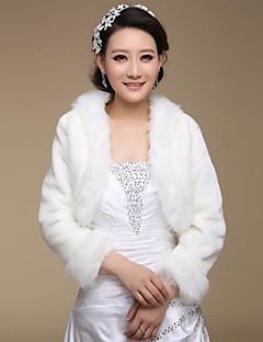 Wedding / Party/Evening Faux Fur Shawls 3/4-Length Sleeve Fur Wraps