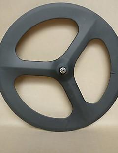 udelsa 700C karbon tri snakket hjulet 70mm dypt rørformet sykkel hjulsett fixed gear (forhjul)