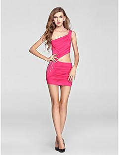 Cocktail Party Dress Sheath/Column One Shoulder Short/Mini Knit