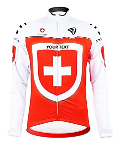 KOOPLUS® Cycling Jersey Women's / Men's / Unisex Long Sleeve Bike Breathable / Waterproof Zipper / Wearable / Reflective StripsJersey /