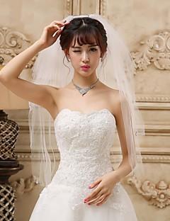 Wedding Veils Four-tier Fingertip Veil With Applique Edge