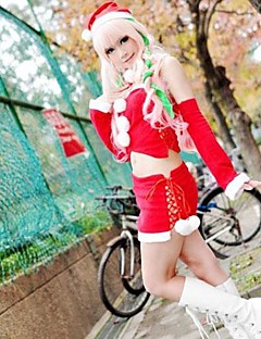Vocaloid Megurine Luka Cute Red Christmas Costume