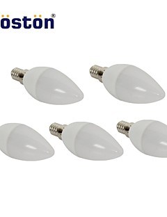 5 pcs WOSTON E14 3 W 15 SMD 2835 280 LM Warm White Candle Bulbs AC 220-240 V