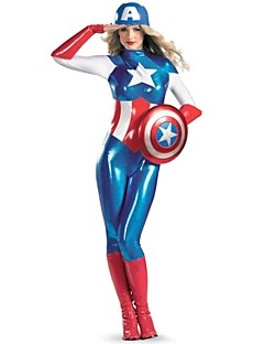 Performance Women's Captain America Cosplay Costume Jumpsuits