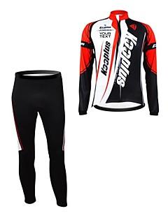 Kooplus Calça com Camisa para Ciclismo Mulheres Homens Unisexo Manga Comprida Moto Camisa/Roupas Para Esporte Conjuntos de Roupas