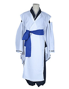 קיבל השראה מ Inu x Boku SS Soushi Miketsukami אנימה תחפושות קוספליי חליפות קוספליי / קימונו טלאים לבן שרוולים ארוכיםמעיל קימונו / מכנסיים