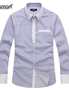 Lesmart® Men's Cotton Long-sleeved Casual Shirt Stitching