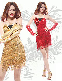 New Style Dancer Shower Tassel Slip Latin Dress Women's Costume