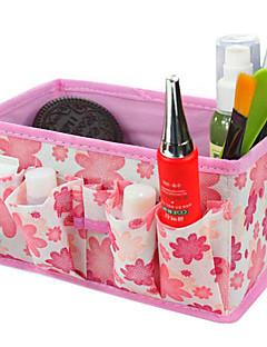 összecsukható négyszögletes kozmetikai tároló állvány doboz smink ecset edény kozmetikai szervező (3 szín közül lehet választani)