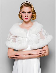 pele envolve mangas cassual faux fur&casamento&xales especiais occaion