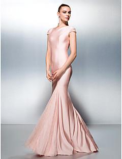 Dress - Plus Size / Petite Trumpet/Mermaid Jewel Sweep/Brush Train Jersey
