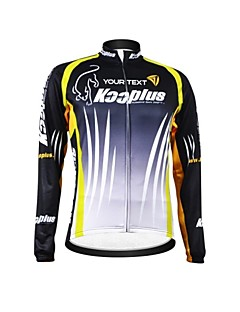 KOOPLUS® Cycling Jersey Women's / Men's / Unisex Long Sleeve BikeBreathable / Thermal / Warm / Waterproof Zipper / Wearable / Reflective
