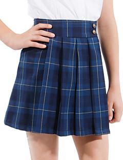 skoleuniformer pigers mørkeblå Tattersall plisseret nederdel